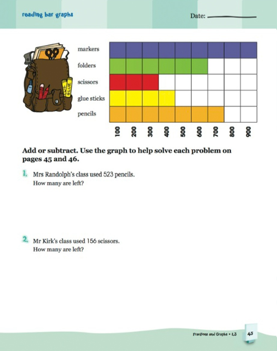 Scholastic Learning Express Fractions and Graphs 3