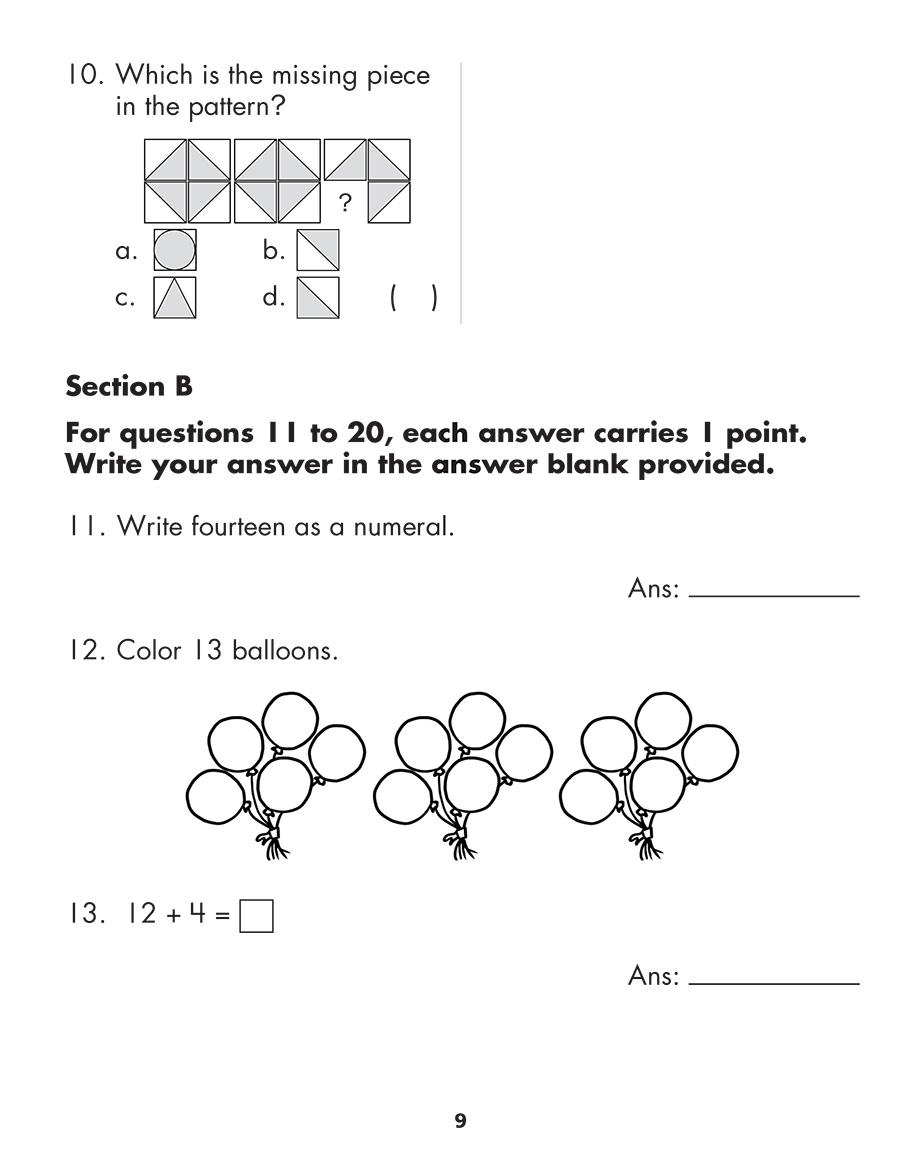 Scholastic Study Smart Mathematics Practice Tests 1