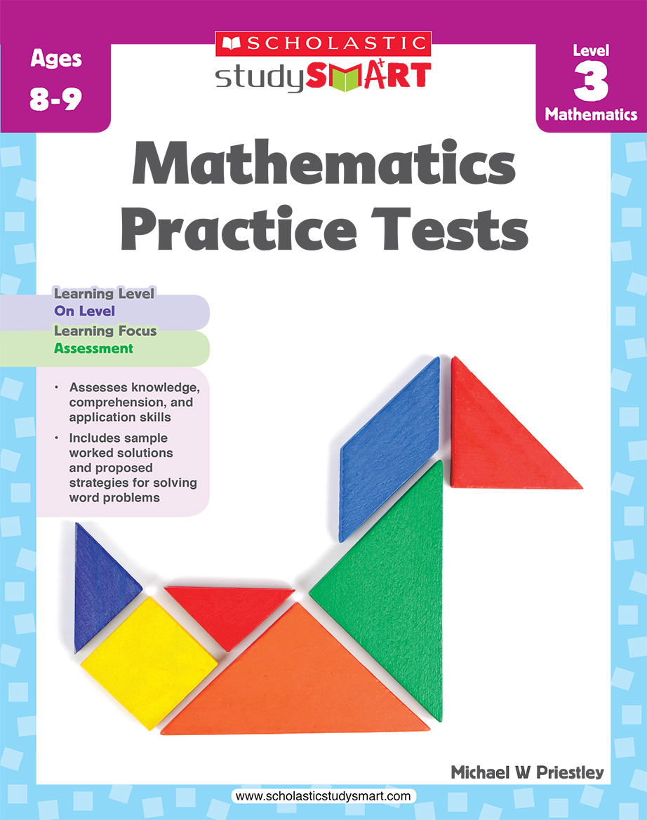Scholastic Study Smart Mathematics Practice Tests 3