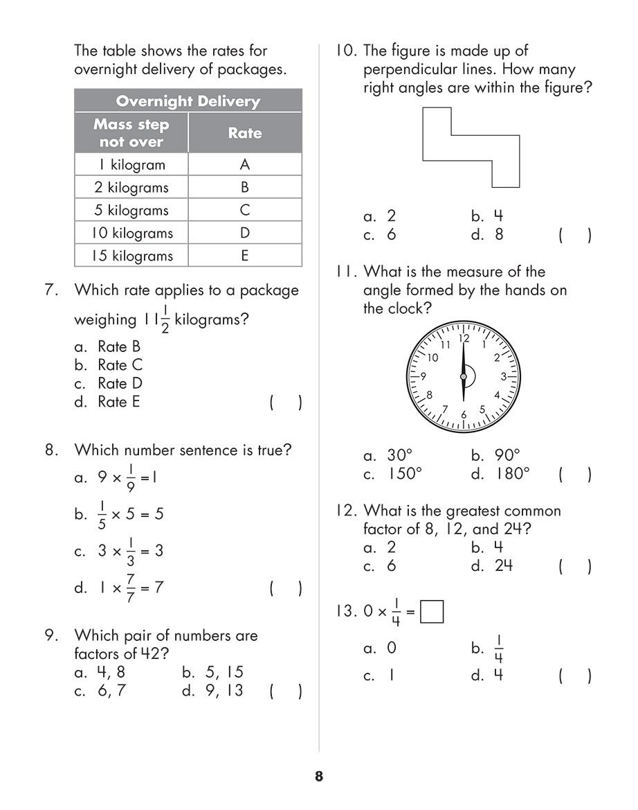 Scholastic Study Smart Mathematics Practice Tests 4