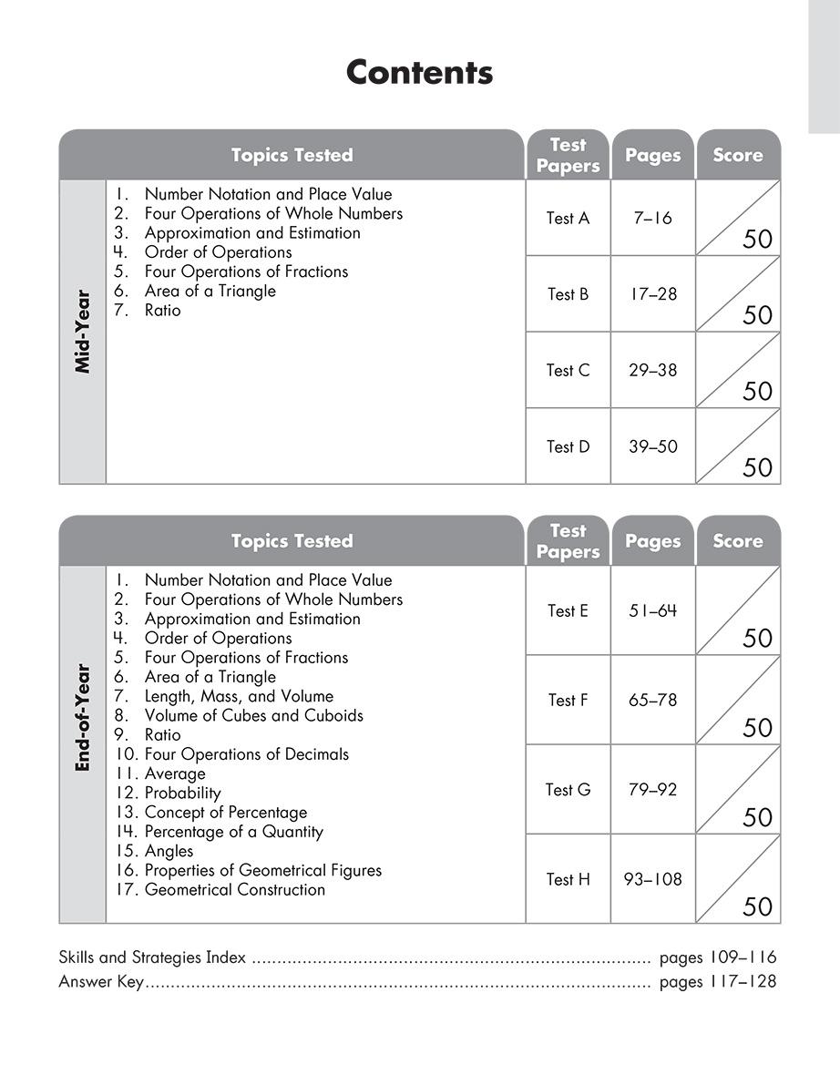 Scholastic Study Smart Mathematics Practice Tests 5