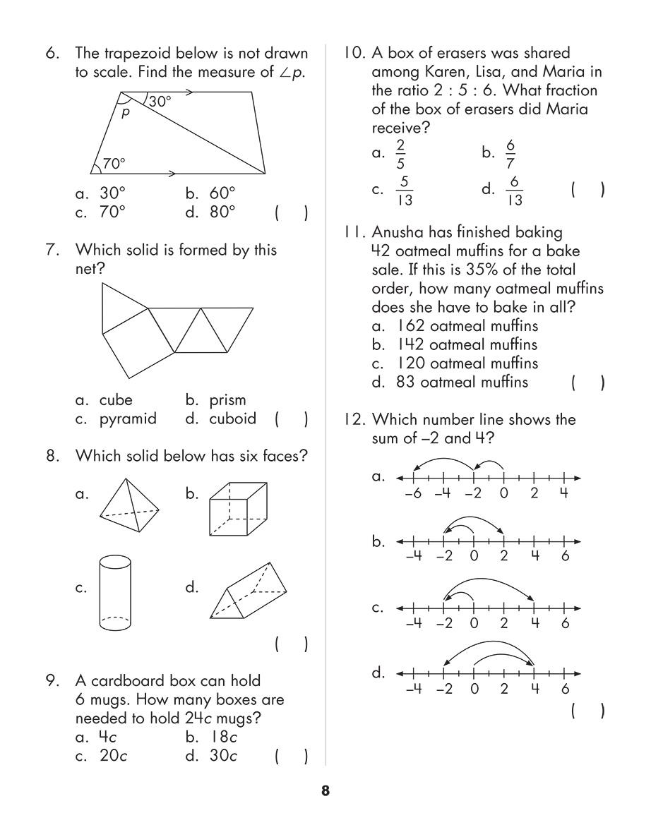 Scholastic Study Smart Mathematics Practice Tests 6