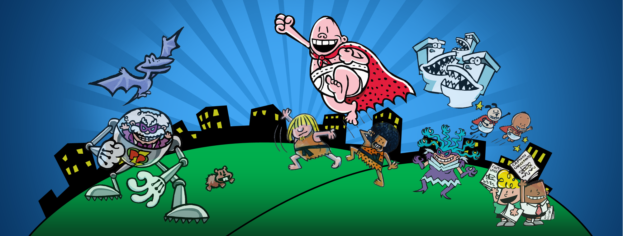 This is an image of Transformative Images of Captain Underpants