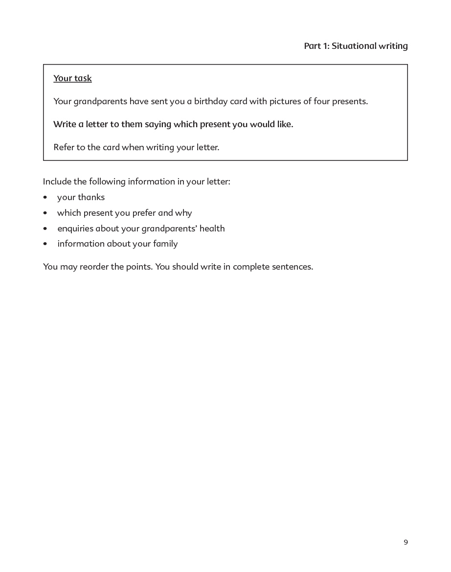 Psle english paper format