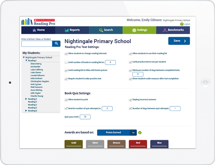 Customize settings for your school