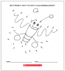 Butterfly Dot to Dot Colouring Sheet (for Classes 1 & 2)