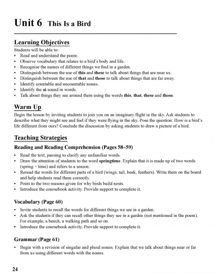 Teacher's Manual: Detailed Strategies and Suggestions