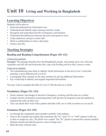Teacher's Manual: Comprehensive Support