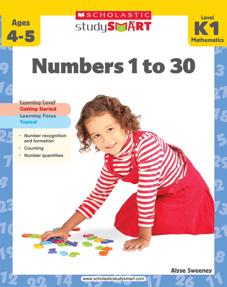 Scholastic Study Smart Numbers 1 to 30 K1