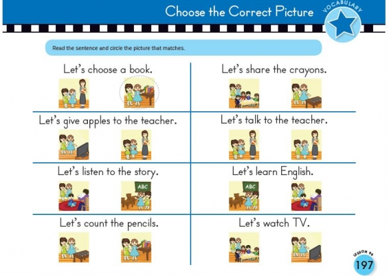 Choose the Correct Picture with Scholastic Early English